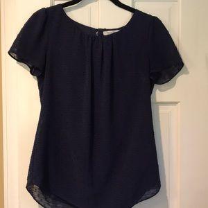 Royal blue short sleeve blouse